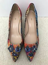 New Women J.Crew Collection Dulci Kitten Heels with Jeweled Toe, Size 7