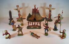 Elastolin Masse Figuren Wildwest Indianer Lager 2 mit Zelt Indianern etc #101