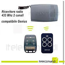 Ricevente radio ricevitore compatibile 433 Mhz 2 canali compatibile Genius