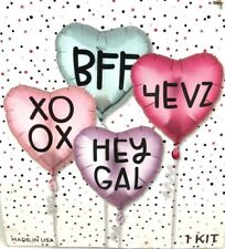 "Northstar Balloons Balloon Kit - Bff/Gal/XoXo/4Evz 14.5"" New"