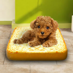 Small Dog Bed Cats Pets Cushion & Cover Puppy Bread Mat Washable Removable Cover