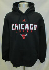 f54741730b80 Chicago Bulls Men s Pullover Hooded Sweatshirt NBA adidas Black