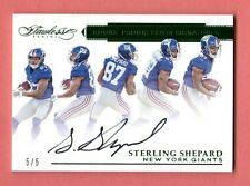 STERLING SHEPARD 2016 FLAWLESS EMERALD AUTOGRAPH AUTO ROOKIE SP # 5/ 5 NY GIANTS