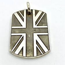 4cd49de4f57f Chrome Hearts Sterling Silver UK Flag Dog Tag Pendant.