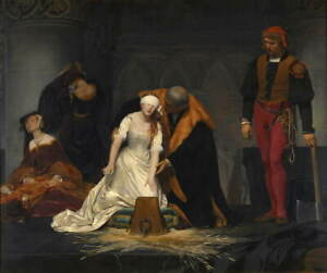 Paul Delaroche The Execution of Lady Jane Grey Giclee Paper Print Poster