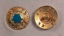 "Set of 6 JHB Gold Round Metal Buttons Turquoise Middle Eastern 1"" 25 mm lyk0034"