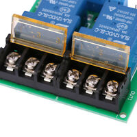 2-Channel Relay Board Module 12V 30A Optocoupler Isolation High/Low Trigger