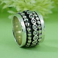 Spinner 925 Sterling Silver 1.6 Carat White Cubic Zirconia Stone Spira Ring Size
