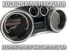 Peugeot 308 2007-2013 Cerclages De Compteur Aluminium Anneaux Chrome Neuf