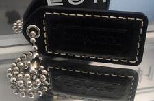 Medium COACH EMBOSSED LEATHER Black KEY FOB BAG CHARM KEYCHAIN HANGTAG TAG a35ffa02b