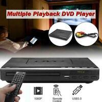 DVD Player mit HDMI und USB Anschluss Mediaplayer Upscaling USB 3.0 schwarz K2N8
