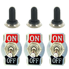 3 X Heavy Duty 20A 125V SPST 2 Terminal ON/OFF Toggle Switch Boot Knob Sales
