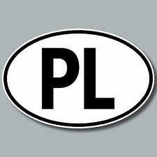 PL Aufkleber Sticker POL Polen Polska Auto Pkw Kfz Lkw Bus Länderkennzeichen