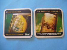 Austrian BEER COASTER ~ GOSSER Brewery since 1860 ~ By Gösser ~ AUSTRIA Brewing