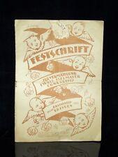 Alte Festschrift zur Vermählung Hochzeitszeitung 1920 Dresden handschriftlich