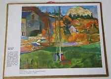 Calendrier almanach PTT 1967 Gauguin Breton Carte Pyrénées Orientales Andorre 2