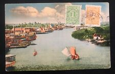 1917 Barranquilla Colombia Picture Postcard Cover To St Louis USA Fluvial Port