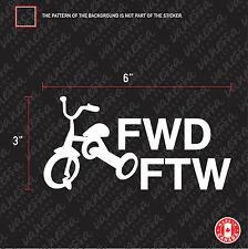 2X  TRICYCLE FWD FTW logo sticker vinyl decal