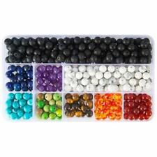 Perles de 8 mm 7 chakras en pierre de lave pour la fabrication de bijoux