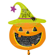 Witch Hat Pumpkin SuperShape Foil Balloon Book Week Halloween Party Accessory
