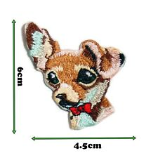 Cute Dog High Detail Iron On Patch Badge Patches Motif Embroirdered 455