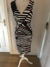 22 Maggio By Maria Grazia Severi Dress Size 10 Black Red And White BNWT