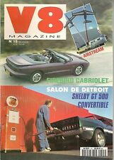 V8 MAGAZINE 15 MUSTANG SHELBY GT500 69 BUICK WILDCAT CON 63 CHEVROLET TWO TEN 56