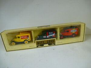 Lledo Days Gone Diecast Model Van Set :Coca Cola - Persil - Castrol - BOXED -