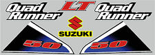 SUZUKI LT 50 GRAPHIC / DECAL KIT FACTORY STYLE LATER MODELS