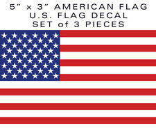 "3pcs 5"" American Flag bumper sticker decal SHIPS-TO-CANADA military USA US VINYL"