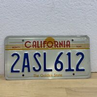 California Vintage Sunset License Plate 2ASL612 Golden State Lou Gehrig's ASL