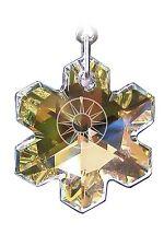 Elementos de cristal Swarovski genuinos Suncatcher/fabricante de arco iris 25mm ab Copo De Nieve