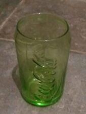 Coca Cola Coke Can Shaped Glass lime green  McDonald's Rare Glass Christmas gift