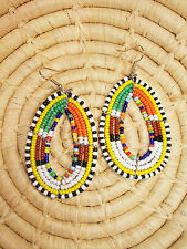 New African Maasai Earrings Masai Massai Africa S/M jemo434
