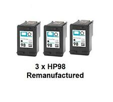 3x  HP98 (C9364WN) REM ink cartridges for HP PSC6310 Photosmart C4180 printers