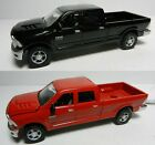 ERTL 1:64 *RED & BLACK* Set of 2012 Dodge Ram 2500 Pickup Truck w/Hitches *NEW*