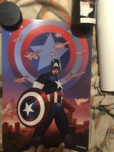 CAPTAIN AMERICA 2016 NYCC MARVEL BOOTH POSTER PRINT GIVEAWAY-MARVEL COMICS 12x18