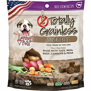 Loving Pets Totally Grainless Beef Stew Recipe Sausage Bites For Dogs (1 Pack),