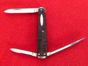 """Schrade Walden 1904-46 peachseed mint lobster 3"""" closed knife"""