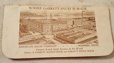 Vintage Garrett Snuff Tobacco Advertising Notebook memo book