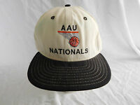 Vintage AAU Nationals Basketball Hoops Baseball Cap Hat Snapback New Era