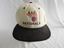 Vintage Aau Nationals Basketball Hoops Baseball Cap Hat Snapback New Era