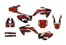 CRF150R graphics decal kit for Honda 2007 - 2015 #2001 Red Free Customization