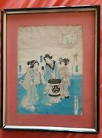 Estampe japonaise originale et signée par Utagawa Kunisada*