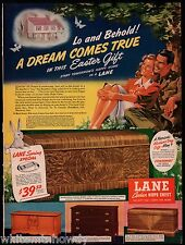 1943 LANE Cedar Hope Chest AD Model 48-2073 shown with 48-2011, 44-1964, 48-2078