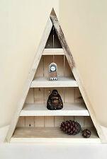 Legno/in legno meditazione triangolare galleggiante LUNA Cristallo di stoccaggio Scaffale scaffalature/
