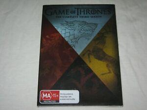 Game Of Thrones - Complete Season 3 - 5 Disc Set - VGC - Region 4 - DVD
