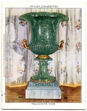1800s 6 Foot Tall Russian Malachite Vase English Treasure 1930s Trade Card