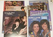 Donny and Marie Osmond Lot of 8 Vinyl Records Lp 70s Pop Rock Albums
