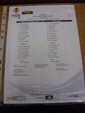 20/09/2012 COLORI teamsheet: Tottenham Hotspur v Europa League LAZIO []. grazie